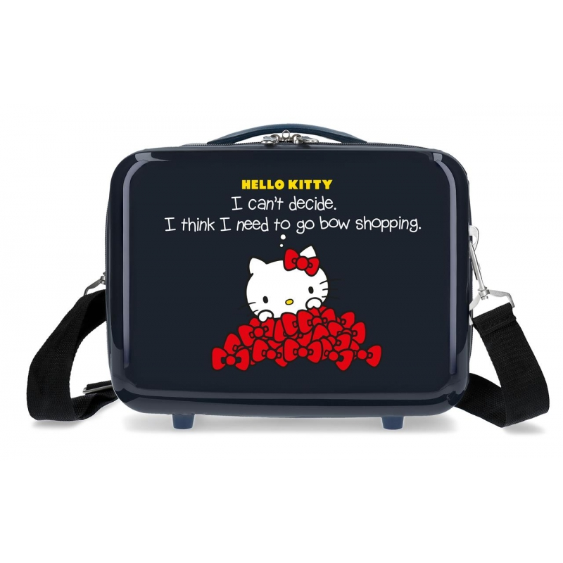 Neceser ABS Bow of Hello Kitty adaptable a trolley Marino