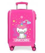 Maleta de cabina rígida Little Me Unicorn Fucsia