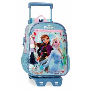 Mochila Frozen Awesome Moves Preescolar 28cm con Carro
