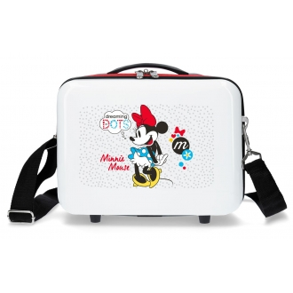 Neceser adaptable a trolley Minnie Enjoy the Day Dots Rojo