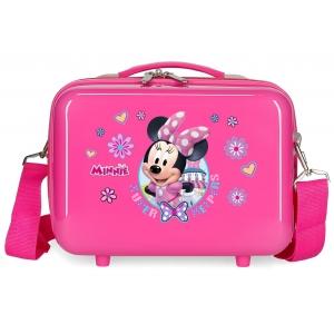 Neceser ABS Minnie Super helpers adaptable rosa