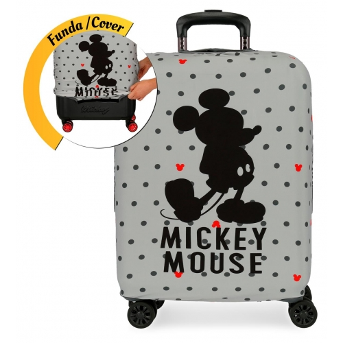 Funda para maleta de cabina Mickey gris