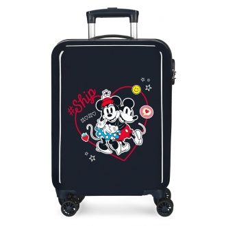 Maleta de cabina Mickey & Minnie Ship Always Be Kind rígida 55cm Marino