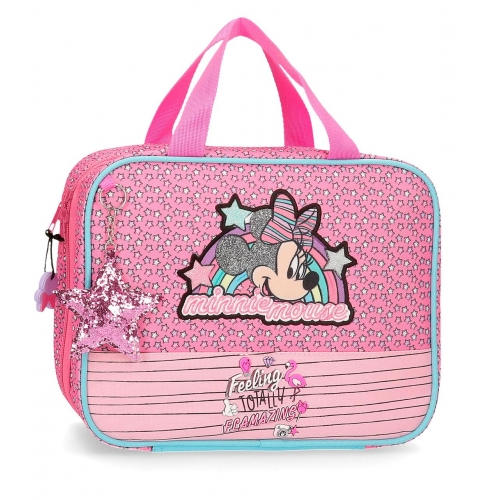 Neceser Minnie Pink Vibes adaptable a trolley