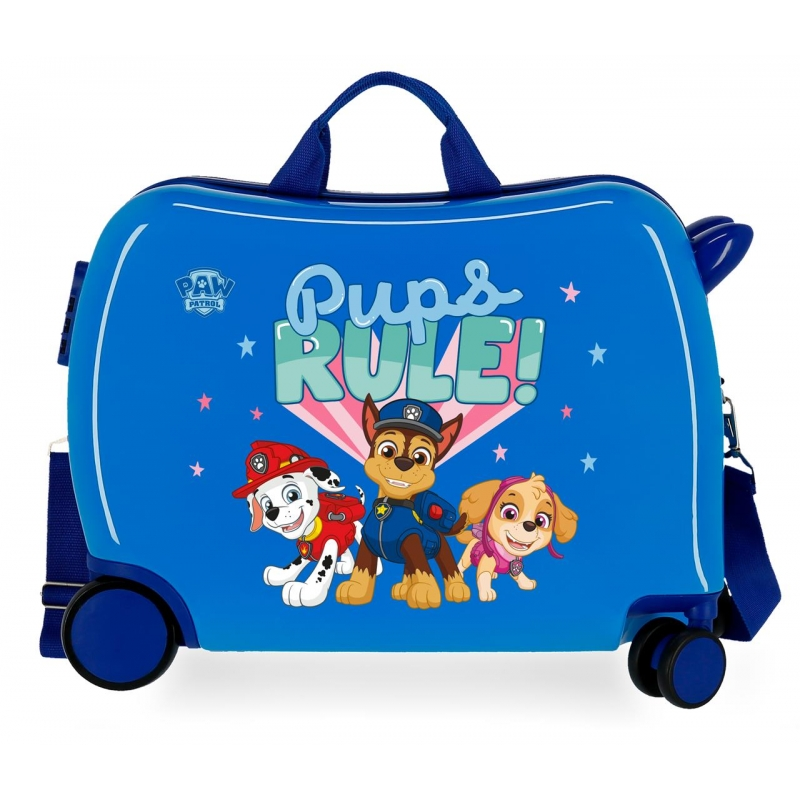Maleta infantil 2 ruedas multidireccionales Paw Patrol Pups Rule Azul