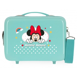Neceser ABS Minnie Rainbow Adaptable Turquesa