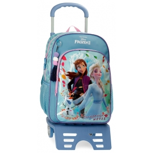 Mochila Frozen Awesome Moves Escolar 40cm con Carro