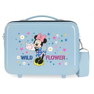 Neceser ABS Minnie Wild Flower Adaptable Azul