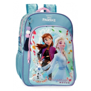 Mochila Frozen Awesome Moves Escolar 40cm