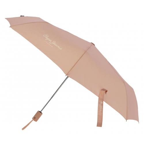 Paraguas Pepe Jeans Luma Doble Automático Nude