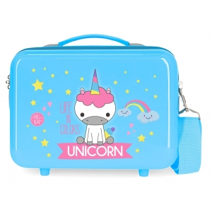 Neceser ABS Roll Road Little Me Unicorn Azul