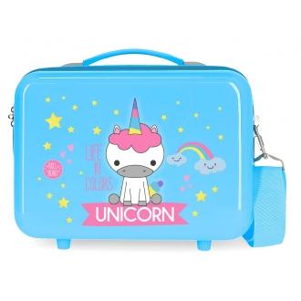Neceser ABS Roll Road Little Me Unicorn Azul