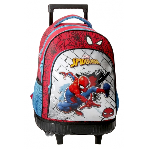 Mochila 2 ruedas Spiderman Red