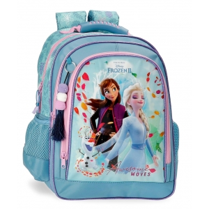Mochila Escolar Frozen Awesome Moves Doble Compartimento