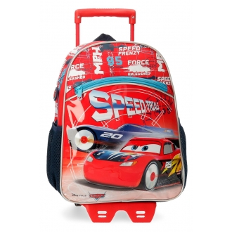 Mochila Cars Speed Trails 32cm con carro