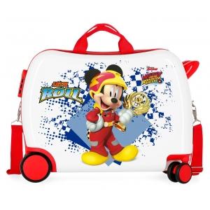 Maleta infantil 2 ruedas multidireccionales Mickey Joy