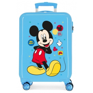 Maleta de cabina rígida Mickey Enjoy the Day Oh Boy Azul