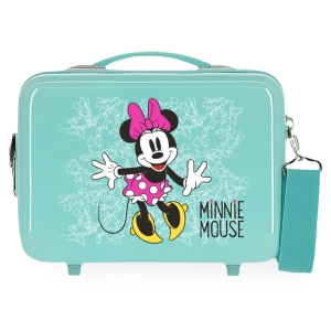 Neceser adaptable a trolley Minnie Enjoy the Day Turquesa