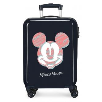 Maleta de cabina Mickey Always Be Kind rígida 55cm Marino