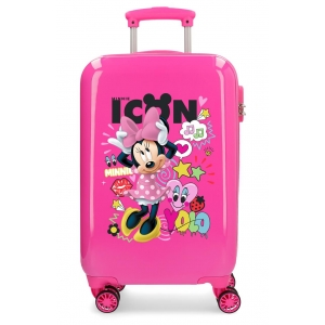 Maleta de cabina Enjoy Minnie Icon rígida 55cm Fucsia