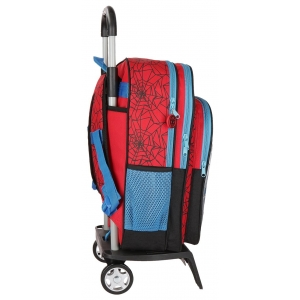 Mochila Escolar Spiderman Red con Carro
