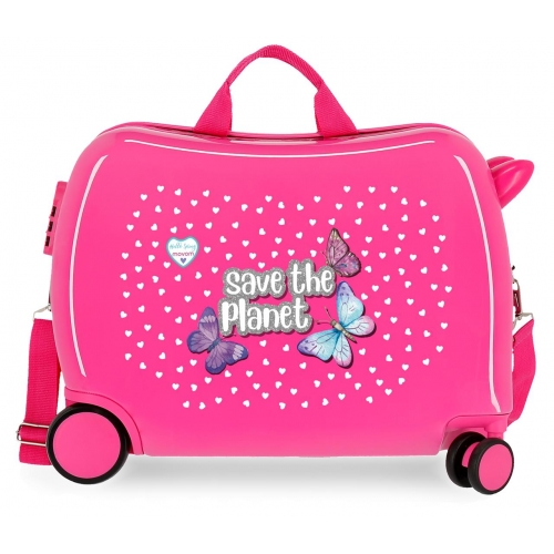 Maleta infantil Movom Save the Planet Fucsia