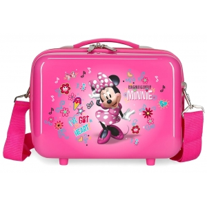 Neceser ABS Enjoy Minnie Heart Adaptable Fucsia