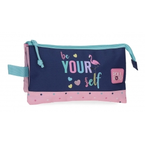Estuche tres compartimentos Roll Road Be yourself