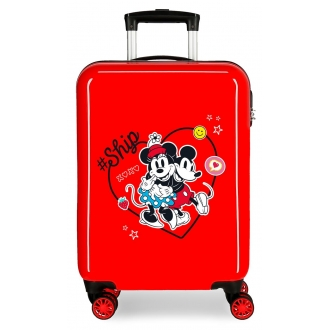 Maleta de cabina Mickey & Minnie Ship Always Be Kind rígida 55cm Rojo