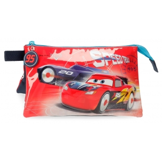 Estuche Cars Speed Trails Tres Compartimentos