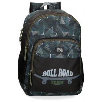 Mochila doble compartimento 44cm Roll Road Team