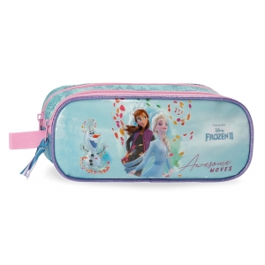 Estuche Frozen Awesome Moves Dos Compartimentos