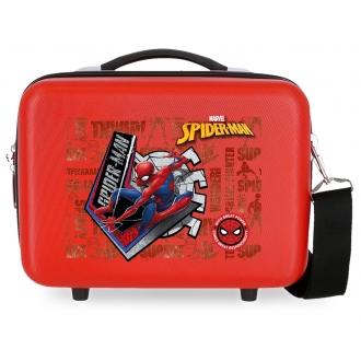 Neceser ABS Spiderman Great Power Adaptable Rojo