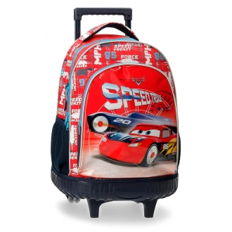 Mochila con ruedas Cars Speed Trails 2R.